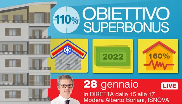 Obiettivo SUPERBONUS 110%: La legge di bilancio 2021